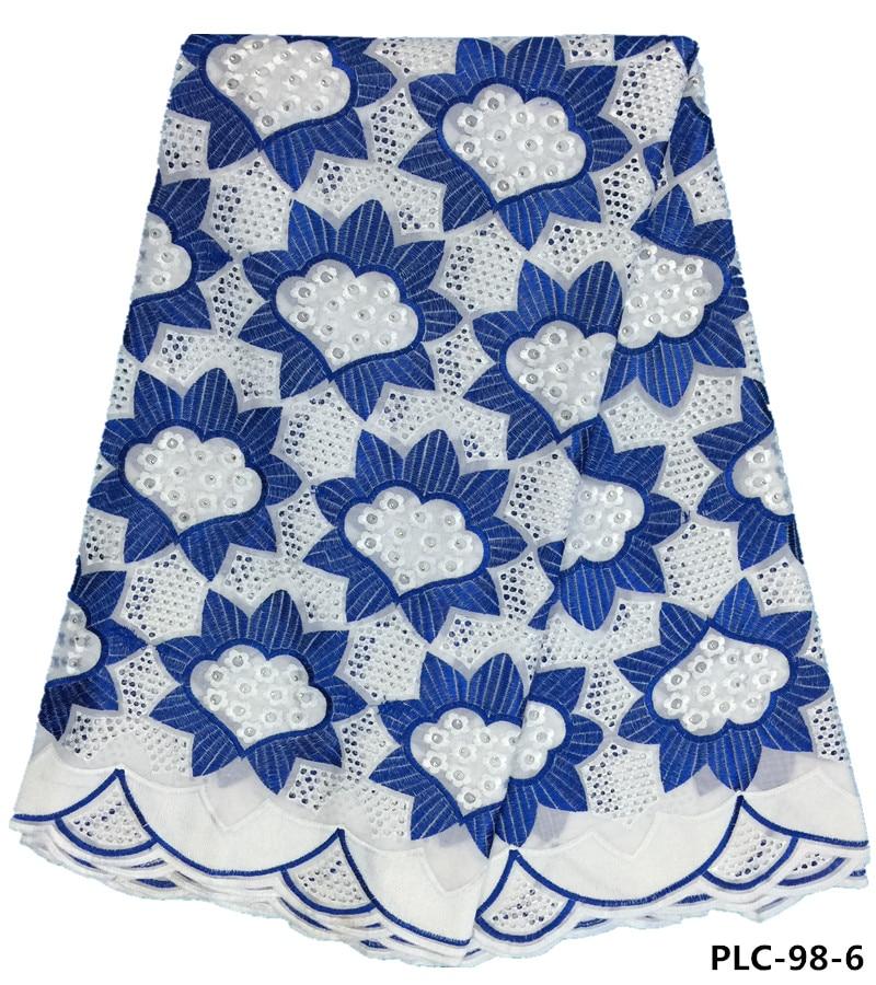 Wunderbare Afrikanische schweizer baumwolle 5 yard Weiche Quilten Tissue Tuch Hause Textil 100% Baumwolle Stoff für hochzeit party PLC-98
