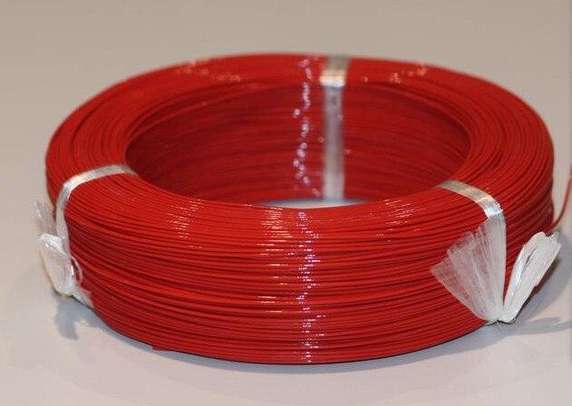 Envío gratis por DHL 0,75 cable cuadrado UL1332 # 18AWG cable de alta temperatura 200 grados 305 m/rollo de alambre de alta temperatura