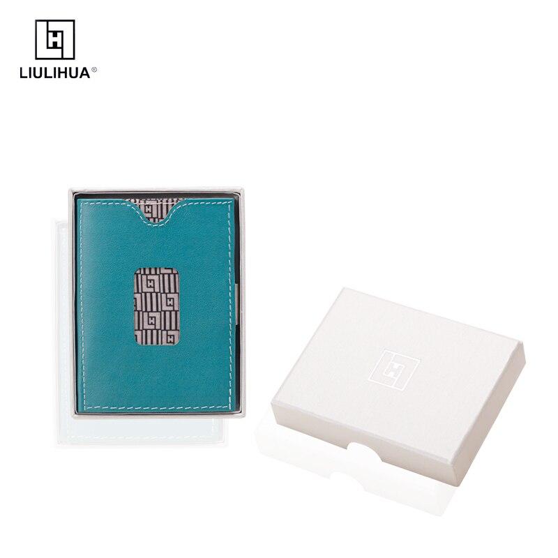 Titular do Cartão de Crédito com Fivela Liulihua Novo Estilo Homem Couro Genuíno Luxo Crypto Carteira Aço Inoxidável Llh Três Vezes Bolsa
