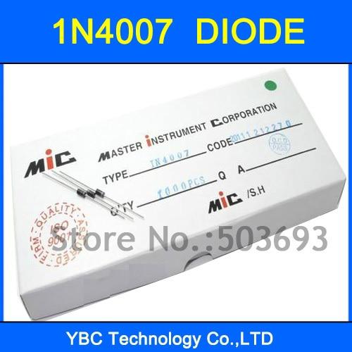200 unids/lote 1N4007 IN4007 4007 diodo rectificador de marca micrófono