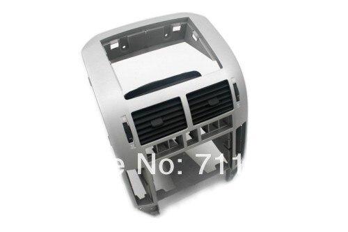 Consola Central con ventilación plateada para Volkswagen VW Polo 9N/9N3