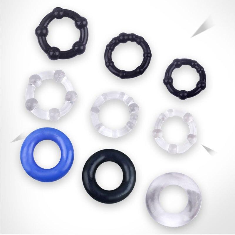 3 unids/set anillo de silicona para pene, anillo reutilizable para condón, anillo retardante para pene, anillo retardante para eyaculación, anillo de manga para pene, Juguetes sexuales para pareja