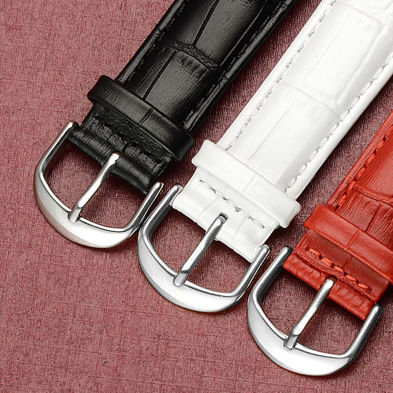 Band for Watch Genuine Cow Leather Men Watch Women Fashion Bracelet Strap Wristband 12mm 14mm 16mm 18mm 19mm 20mm 22mm 24mm  - buy with discount