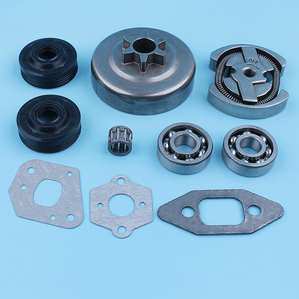 3 8 clutch drum 3/8-6T Clutch Drum Crank Bearing Oil Seal Kit For Craftsman 35835161 3583669 3583518 3583567 3583638 Chainsaw 530057905