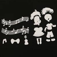 scd1121 boy girl metal cutting dies for scrapbooking stencils diy album cards decoration embossing folder craft die cuts tools
