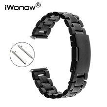 Bracelet de montre en acier inoxydable à dégagement rapide pour Seiko Citizen Casio hommes femmes Bracelet à maillons Bracelet noir argent 18mm 20mm 22mm