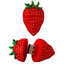 Lebensmittel Obst Erdbeere Pen Drive USB-Stick 4GB 8GB 16GB 32GB 64GB Nette Pendrive flash U Stick USB 2.0 Memory Stick Neue