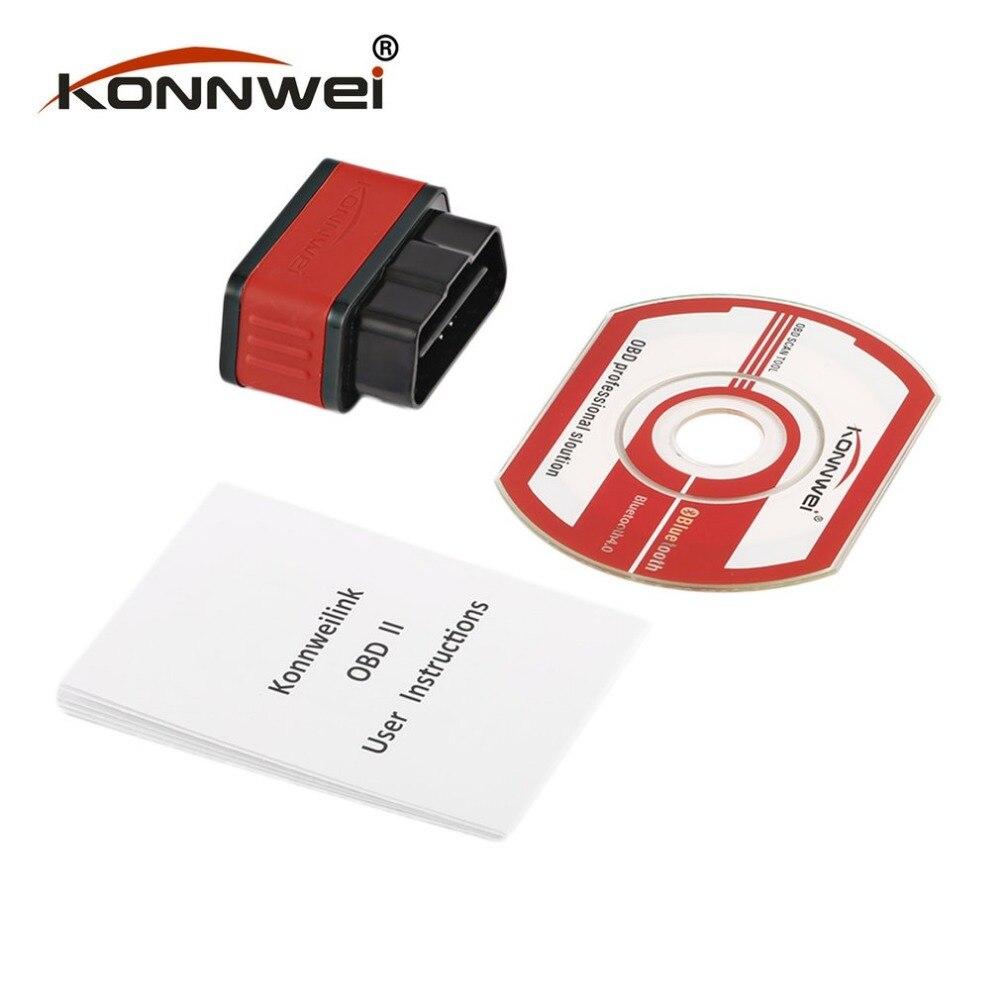 Konnwei KW903 ELM327 Bluetooth ODB2 автомобильный диагностический сканер детектор инструмент считыватель кодов для Android для IOS OBDII автоматический сканер