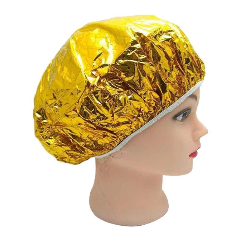 Venta al por mayor de capuchas de baño ultrafinas impermeables de papel de aluminio, tapa de pelo desechable nutritiva de aceite para hornear, Accesorios para peinados