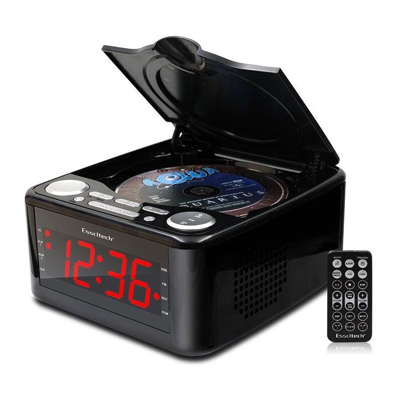 Clocked cd drive reproductor de CD, altavoces estéreo despertador usb prenatal Zaojiao / WMA música FM radio aux entrada auricular salida MP3