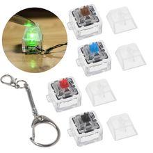 Llavero con interruptor mecánico Gateron MX para interruptores de teclado, Kit de prueba sin luz LED, juguetes, regalos para aliviar el estrés