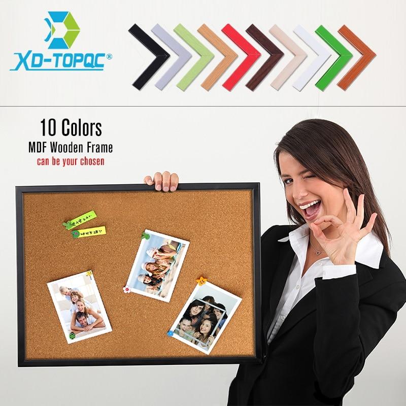 Доска из пробковой древесины MDF с рамкой, 60*45 см, доски объявлений высокого качества, 10 цветов, доска объявлений для выбранной модели