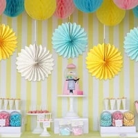 4pcs 25cm tissue paper fan honeycomb fan decoration paper crafts party wedding birthday home decor party supplies