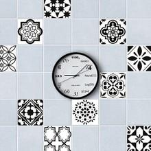 5pCS DIY Mosaic Wall Tiles Stickers Waist Line Wall Sticker Kitchen Adhesive Bathroom Toilet Waterproof PVC Wallpaper YZ