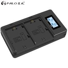 PALO 디지털 카메라 배터리 충전기 2 슬롯 LCD 디스플레이 지능형 USB 배터리 충전기 캐논 LP-E6 70d 6d 5d 마크 iii ii iv