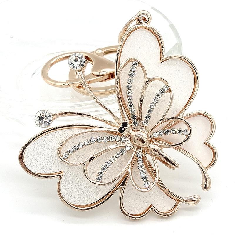 Key Ring Purse Bag Rhinestone Crystal CZ Keyring Keychain charm Pendant Gift  butterfly G270