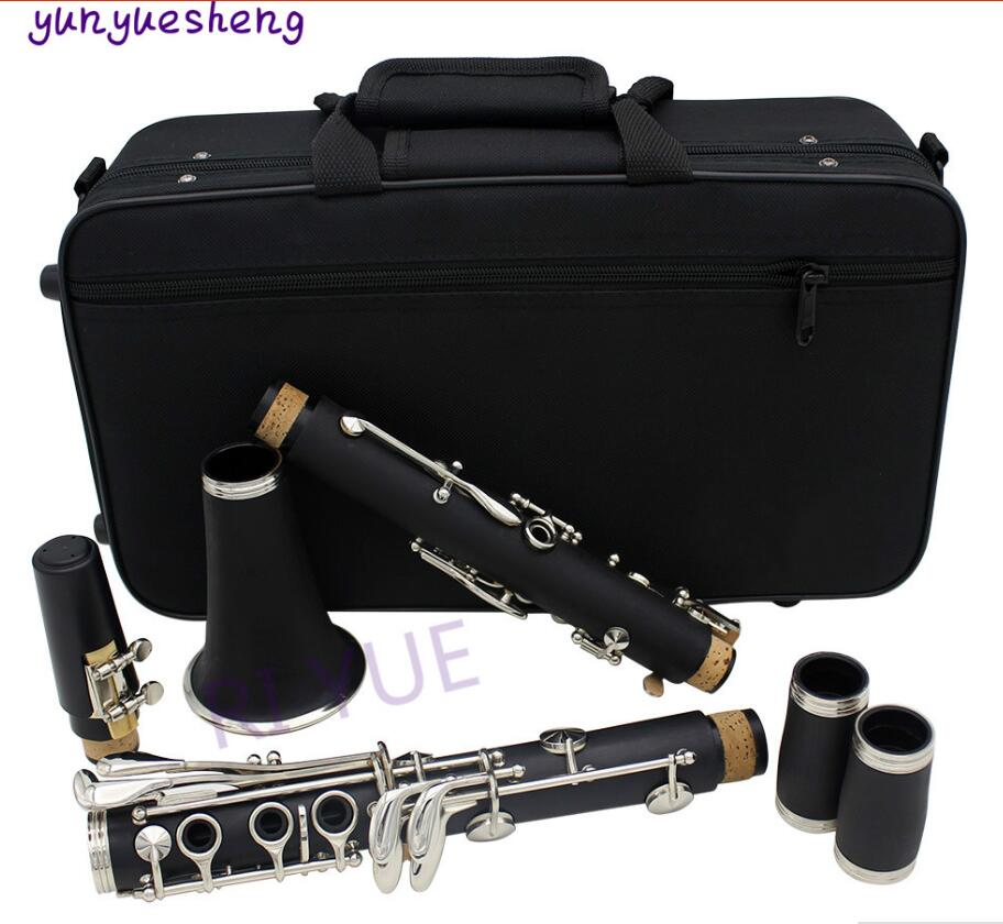 Clarinete B the 17 key de alta calidad con llave niquelada de latón blanco, material del cuerpo del tubo ABS, se pueden elegir ocho tipos de color