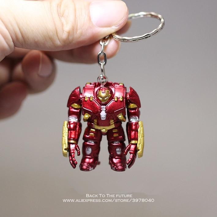 Disney Los vengadores de Marvel de hierro hombre anillo de 4cm figura de acción del Anime Mini decoración colección de PVC figura de modelo de juguete para los niños