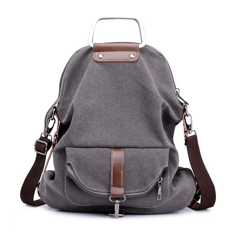 Kvky casual gymbag lady bagpack bolso trasero de lona mochila multifuncional para niñas bolsas escolares notebook mochila mujer bolsos traseros