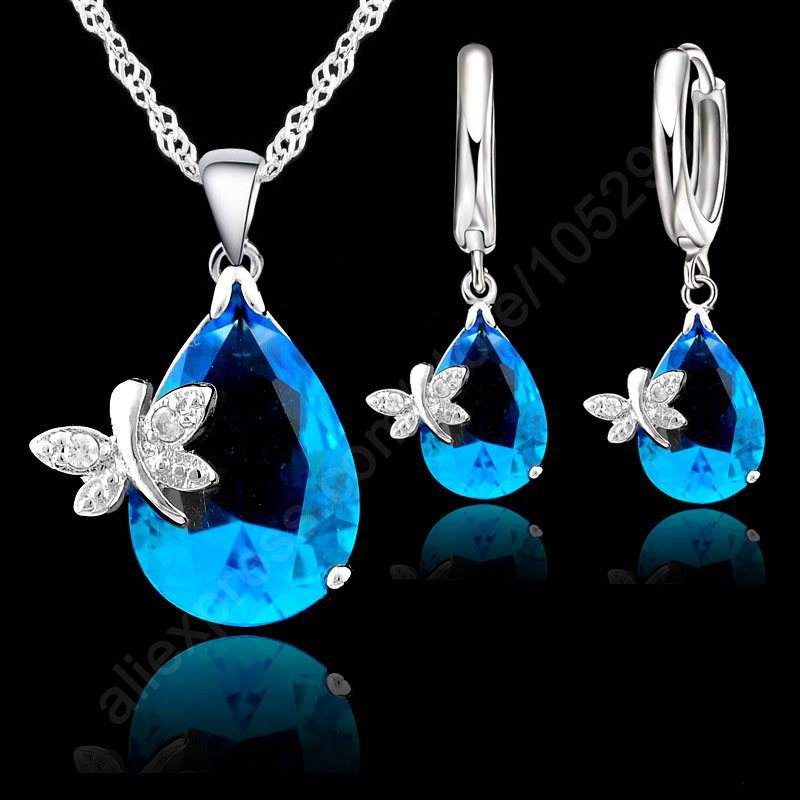 cwwzircons elegant designer green cubic zirconia long leaf drop indian 585 gold earring pendant necklace women jewelry sets t411 Elegant Dragonfly Water Drop Jewelry Set 925 Sterling Silver Pendant Necklace Earring AAA Cubic Zirconia Big Promotion