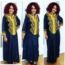 H & D grande taille robes africaines pour femmes afrique tête enveloppes longue robe africaine femme 2020 broderie bazin robe