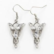 Arwen Evenstar le seigneur des Riings cristal clair strass argent pendentif boucles doreilles pour femmes pendantes boucles doreilles