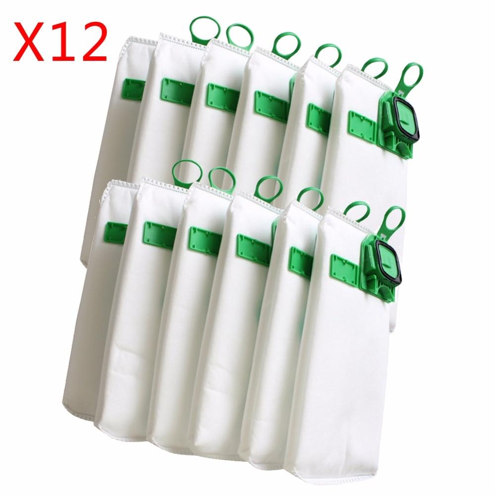 clean doll 16 pack vacuum cleaner dust bags cartridge filter charcoal filter for vorwerk kobold vk130 vk131 fp130 fp131 bags 6 / 12pcs high efficiency dust filter bag replacement for Vorwerk VK140 VK150 garbage bags FP140 Vacuum cleaner