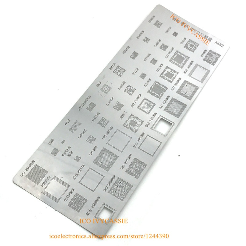 Für MSM8225Q K3RG4G MSM8928CPU M76339A MSM8212CPU MT63329 MSM8956CPU B309 MT6350V BGA Schablone Reball Direkt Heizung Vorlage