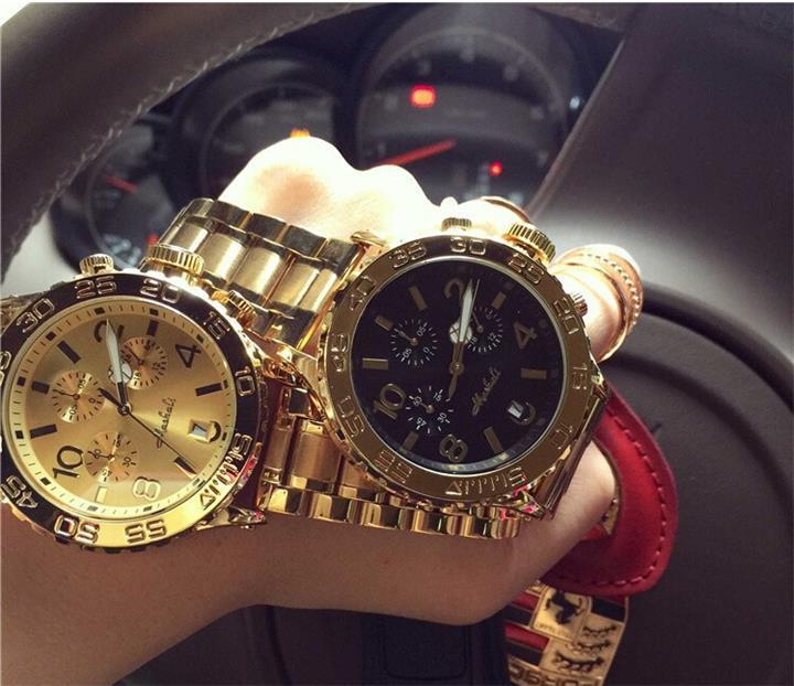 High Quality Men Women Watches Luxury Six-pin calendar Wristwatches Crystal Dress Watch Female Rose Gold Watch Mashali88038 enlarge