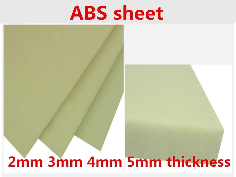 2mm 3mm 4mm 5mm espesor 200x200mm Beige ABS de color hoja de plástico sólida modelo tablero plano para fabricación de modelos de mesa de arena