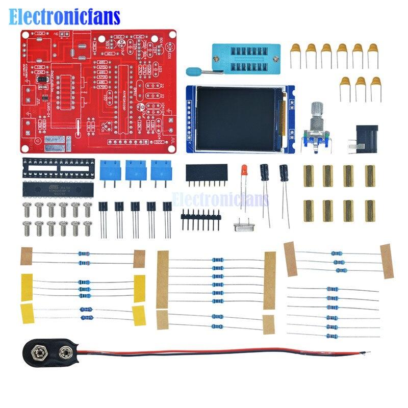 TFT GM328 Mega328 Transistor Tester LCR ESR meter Square wave Signal Generator DIY Kit