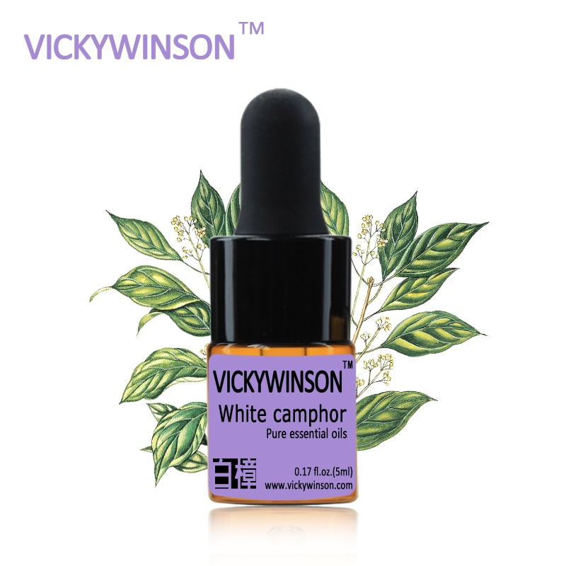 White camphor essential oil 5ml White Oils Fomous Mosquito Repellent Deodorant Camphor DIY massage oil natural camphor tree household bug repellent deodorization mothballs wood 10pcs