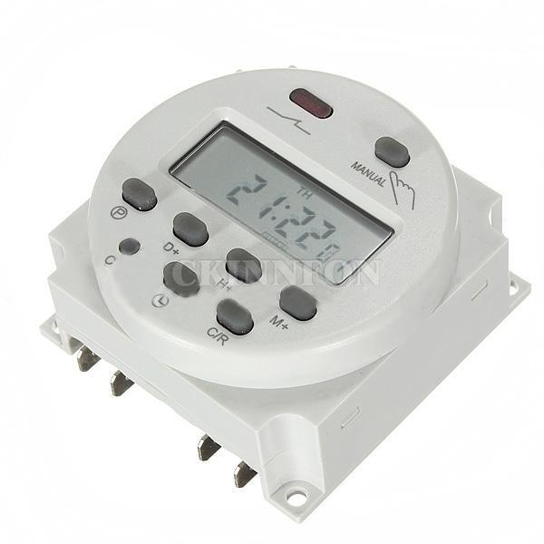 DHL 20 piezas CN101A AC 12v 24v 110 v 220V 16A interruptor de tiempo digital temporizador electrónico programable semanal