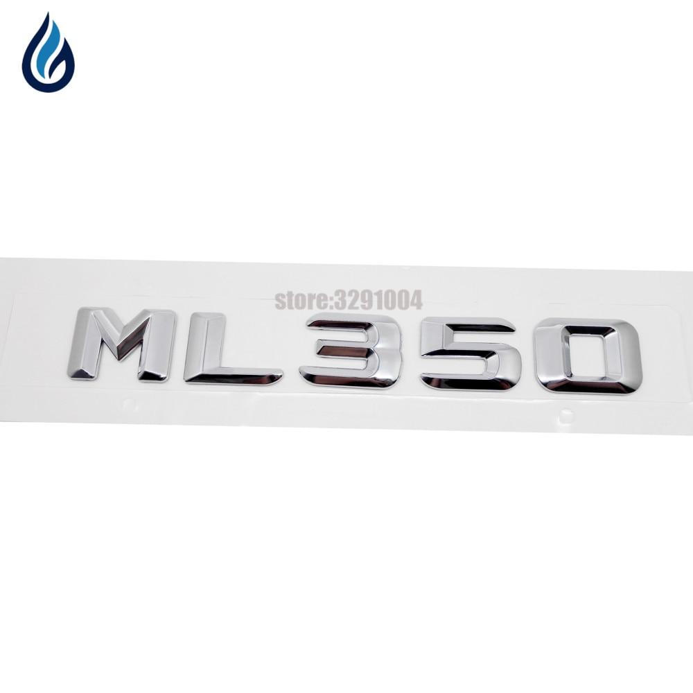 Cromado ML350 parachoques trasero números carta insignia calcomanía de Logo emblema para Mercedes Benz ML clase W166 W164 W163 W204 W203 W211