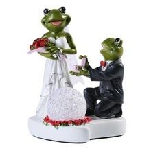 Objets à collectionner pour Couples   Figurine créative pour décoration de gâteau de mariage, cadeau de mariage en forme de grenouille pour Couples