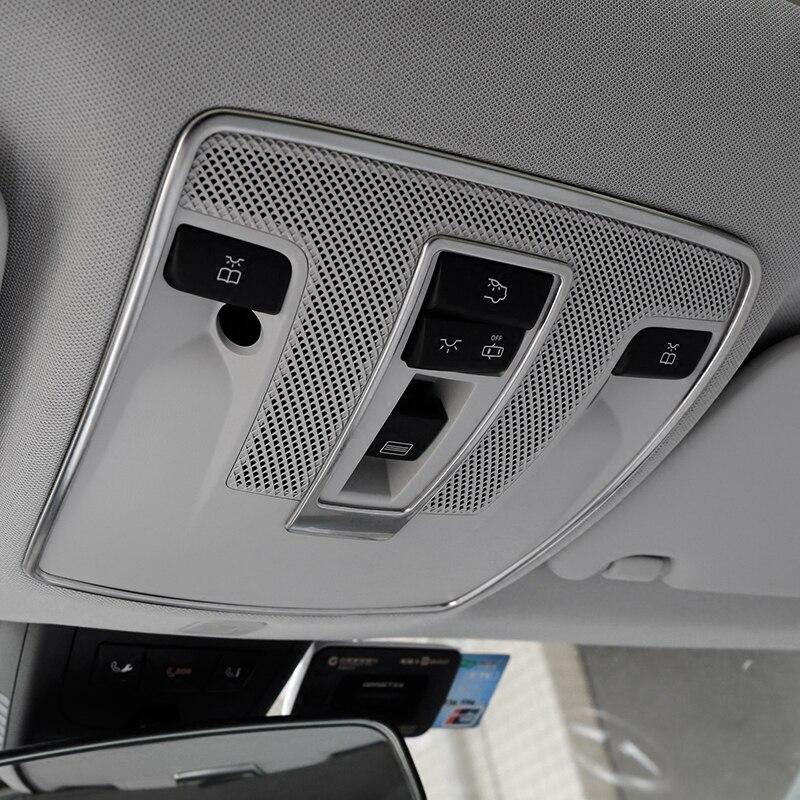 Стайлинг автомобиля, крышка для чтения, отделка, декоративные полоски, интерьер, крыша, лампы, рамы для Mercedes Benz A B Class GLA X156 CLA C117