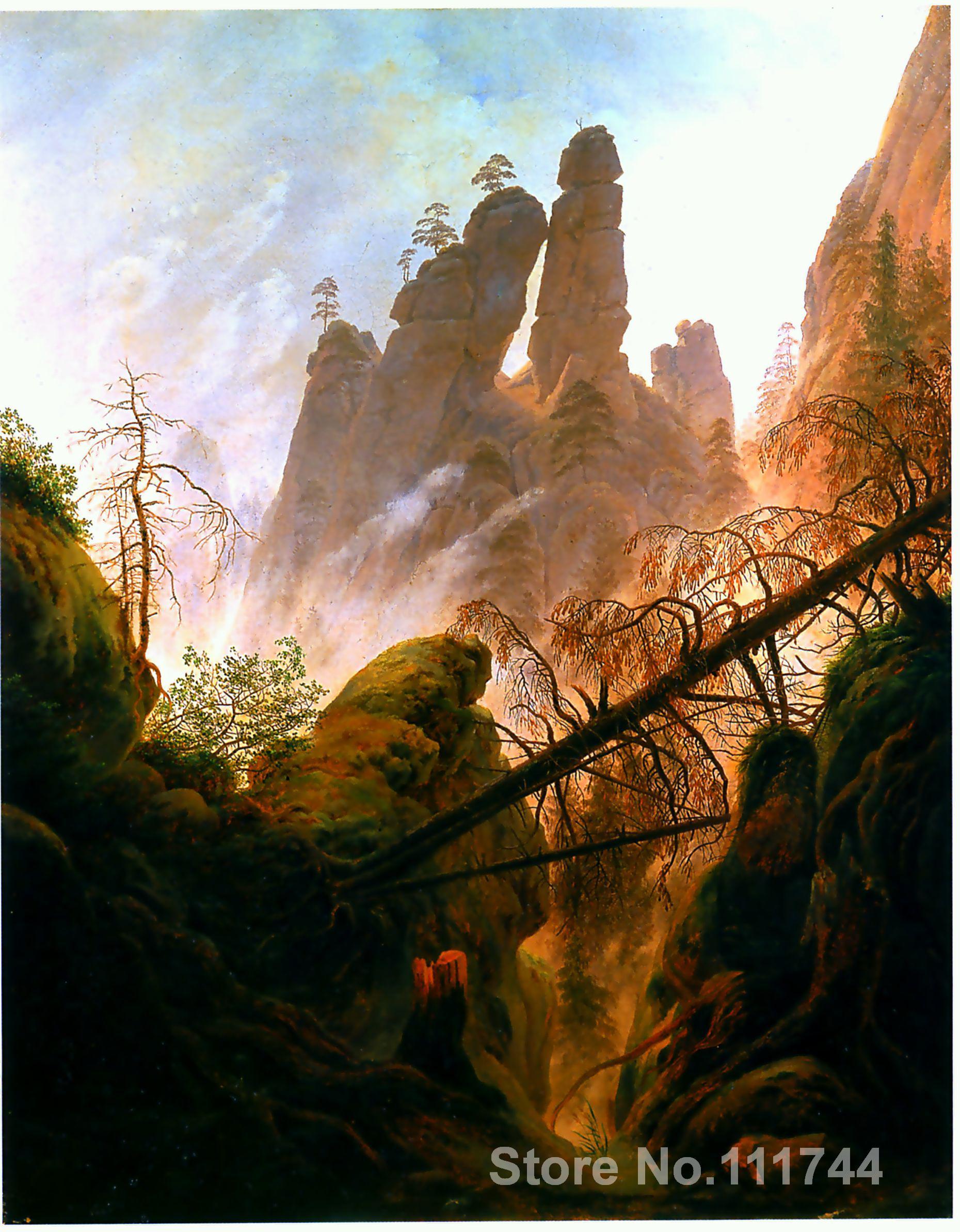 online art gallery Rocky Ravine Caspar David Friedrich Landscape paintings Hand painted High quality