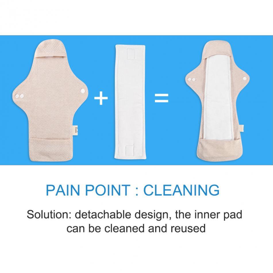 Almofadas sanitárias reutilizáveis algodão orgânico fino guardanapos sanitários pano almofada menstrual lavável almofadas sanitárias moma pantiliner toalha