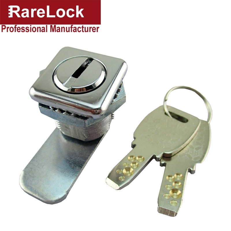 Rarelock MS549 замок для шкафа квадратный 2 компьютерный ключ для электрического шкафа почтовый ящик Школьный шкафчик офисный ящик оборудование i