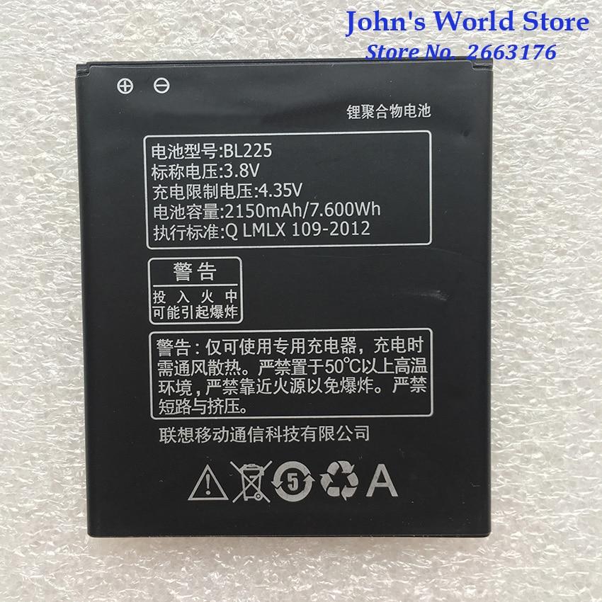 For Lenovo 2150Mah BL225 Original Li-ion Battery Replacement for Lenovo A858T A785E S8 S580 A708T A6