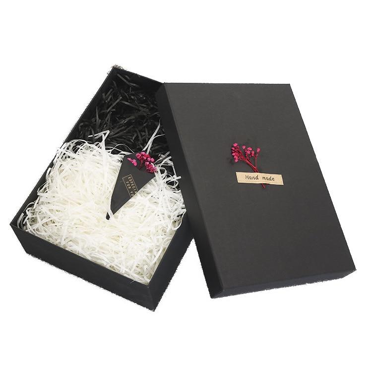 Подарочная коробка, большая Прямоугольная Черная Подарочная коробка, Подарочная коробка на заказ