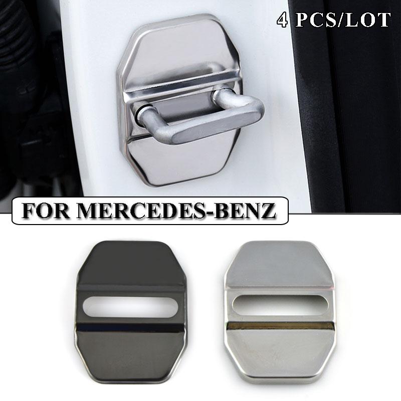 Ceyes Car Styling cubierta para cierre de puerta de coche de acero inoxidable para Mercedes Benz W211 AMG W204 W210 W203 Cla accesorios de estilo de coche