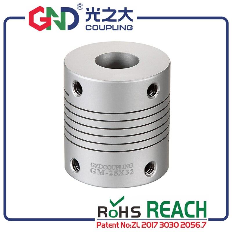 50 قطعة GND fexible مقرنة/ وصلة ربط للعمود الألومنيوم الكهربائية صلابة عالية موازية خطوط سلسلة اقتران GM D25mm L32mm ل محرك معزز