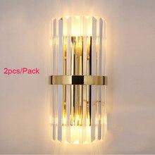 Luxus kristall gold wand leuchte nacht wand lampe wohnzimmer schlafzimmer DIY wand licht 2 teile/paket CE ROHS SAA UL g4 birne enthalten