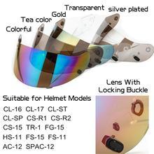 Moto casque visière lentille moteur Cross casque visière protecteur verre sur pour HJC CL-1617CS-R1R R CS-15TR-1FG-15HS-11CL-SP
