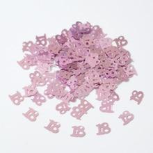 Confettis de Table pour joyeux anniversaire   2400 pièces, décorations à paillettes daluminium, numériques roses, 13 16 18 20 21 30 40 50 60 70 80