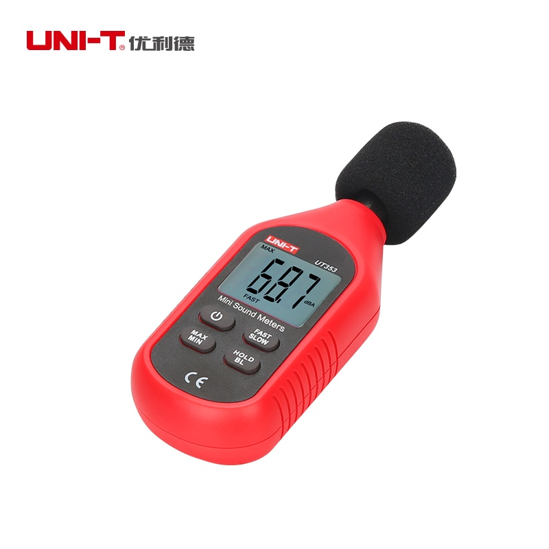 UNI-T UT353 Professional Mini Digital Sound Noise Level Meter Decibel Monitoring Indicator Testers 30 ~ 130dB