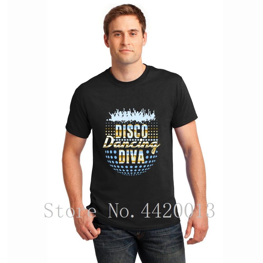 S-XXXL de algodón personalizado disco diva bailando 1970s vintage retro Natural verano estilo Natural Pop camiseta para hombres