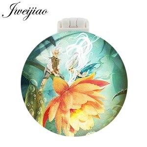 JWEIJIAO маленькие сказочные эльфы карманное зеркало с массажной расческой для косметического использования складной портативный макияж туалетный столик зеркала для путешествий