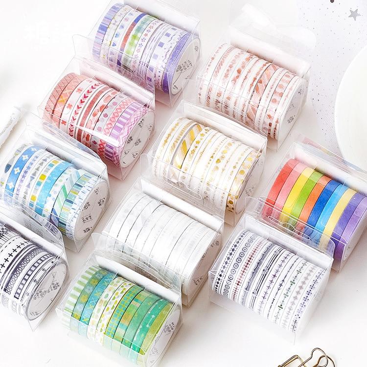 10 Rolls/pack Wizard Regenboog Vergulden Washi Tape Set Diy Decoratie Scrapbooking Planner Plakband Label Sticker Briefpapier